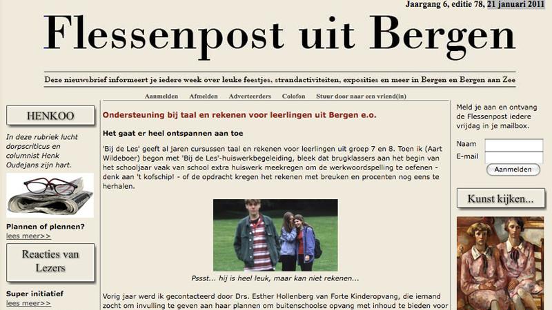 Flessenpost uit Bergen van 21 januari 2011