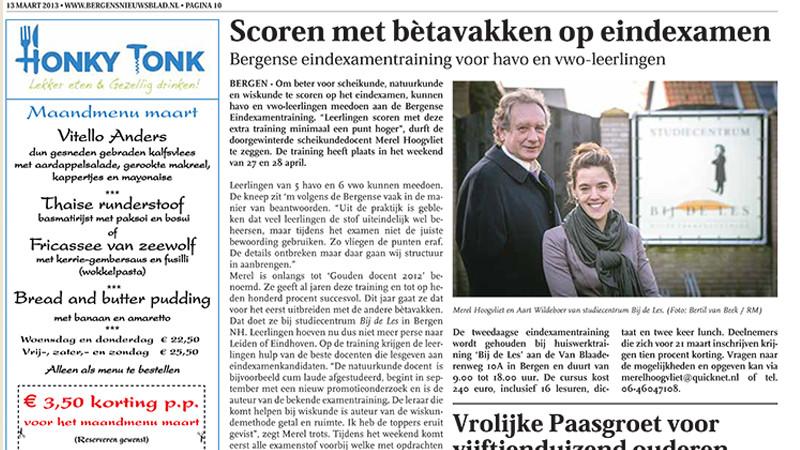 Bergens Nieuwsblad van 13 maart 2013