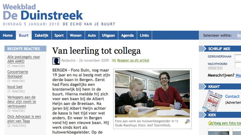 De Duinstreek van 26 november 2009